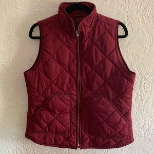 NWT J. Crew Dark Red Vest Size Medium
